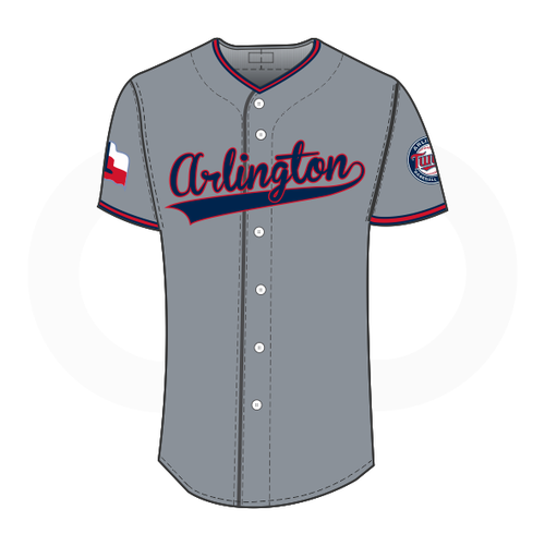 Arlington Twins Baseball Jersey Grey (Customizable)