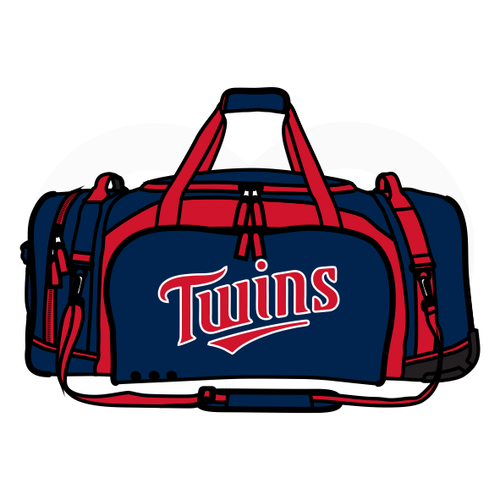 Arlington Twins Baseball Coach's Duffel Bag
