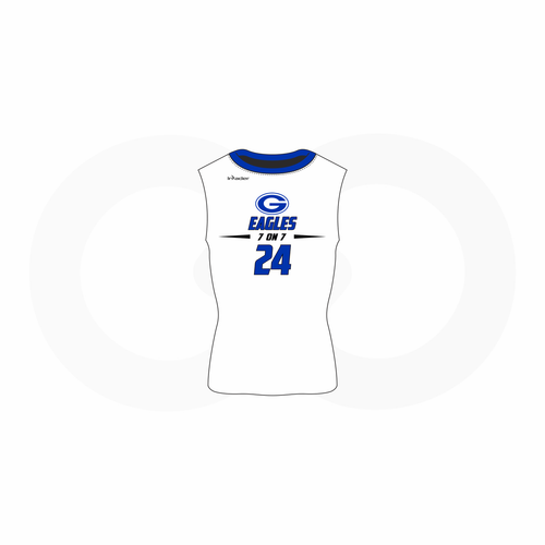 Forbes 7th Grade Sleeveless Compression Shirt White