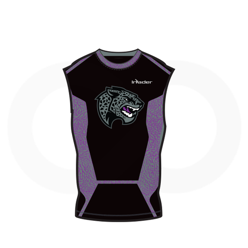 Austin LBJ Jaguars Sleeveless Compression Shirt Black