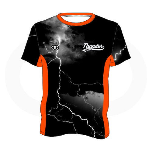 Thunder Struck Black Orange T Shirt 1