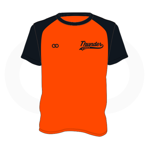 Thunder Struck Orange Black T Shirt 1