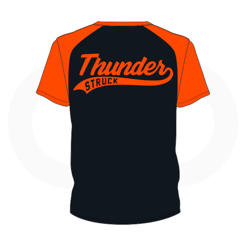 Thunder Struck Black Orange T Shirt 2