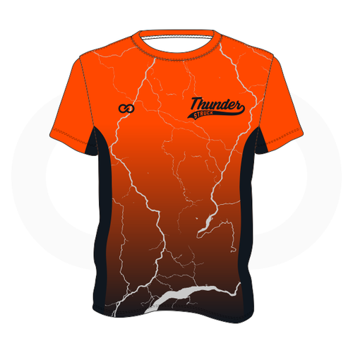 Thunder Struck Orange Black T Shirt 2
