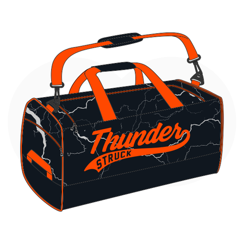 Thunder Struck Baseball Black Duffle Bag
