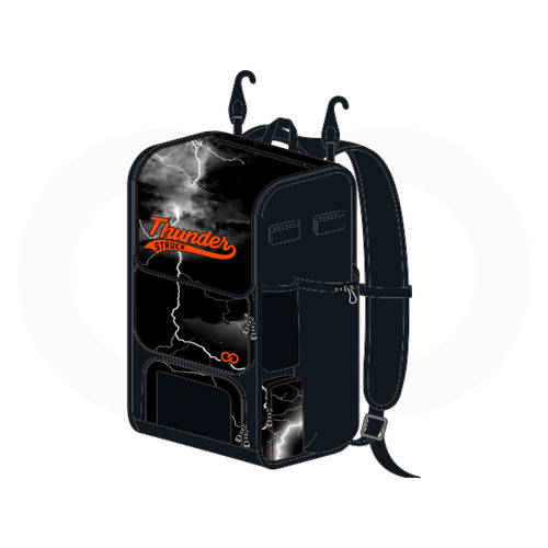 Thunder Struck Black Baseball Backpack