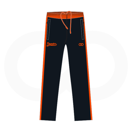 Thunder Struck Black Orange Sweat Pants 1