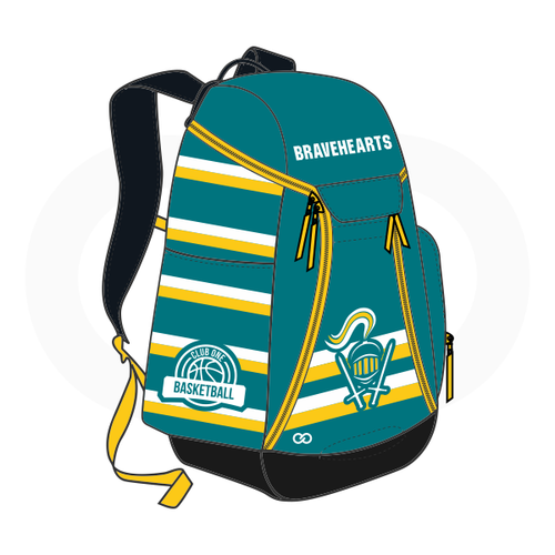 Club One Bravehearts Basketball Backpack