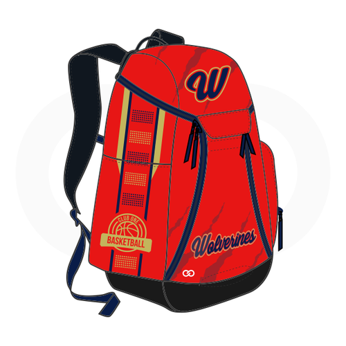 Club One Wolverines Basketball Backpack