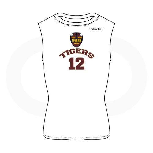 Dripping Springs Tigers Sleeveless Compression  Shirt White
