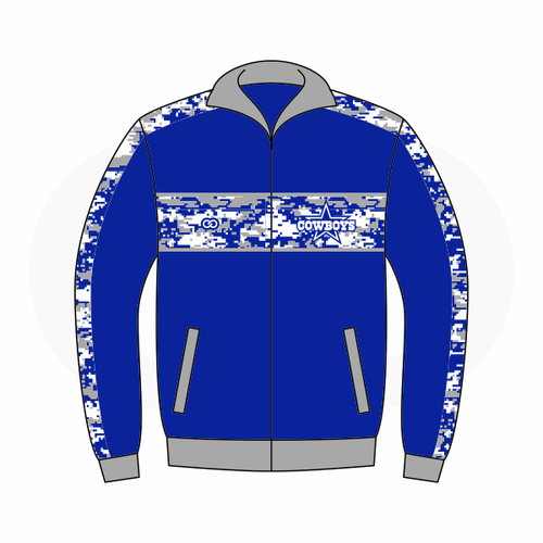 Blue Star Cowboys Track Jacket
