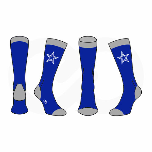 Blue Star Cowboys Sock