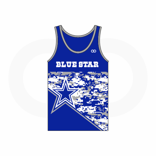 Blue Star Cowboys Singlet