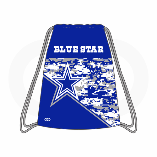 Blue Star Cowboys Drawstring Bag