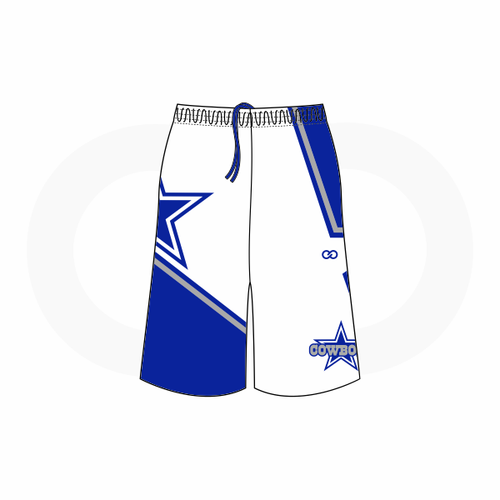 Blue Star Cowboys Shorts (White)