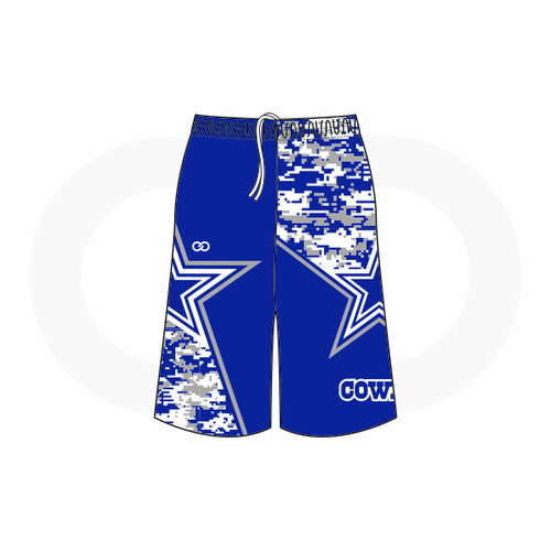 Blue Star Cowboys Shorts (Royal)