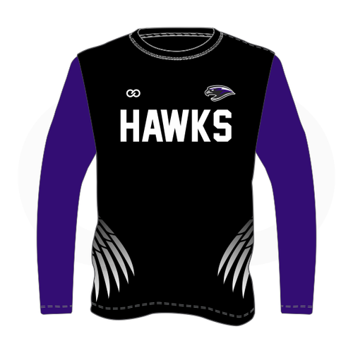 South Augusta Hawks Black Long Sleeve Shooting Shirt