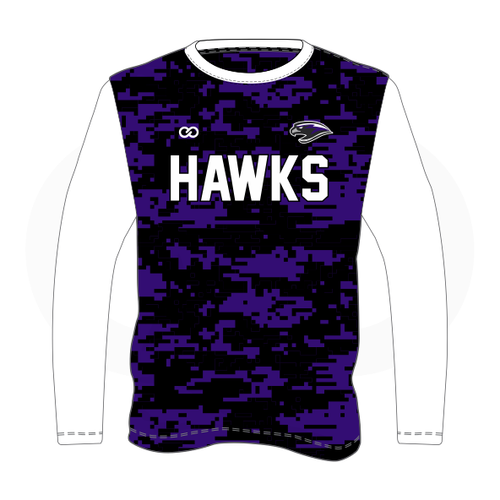 South Augusta Hawks Camo Long Sleeve Shooting Shirt