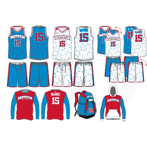 Nextstar Basketball Deluxe Reversible + Home and Away Package