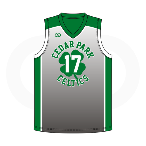 Cedar Celtics Basketball Grey Jersey