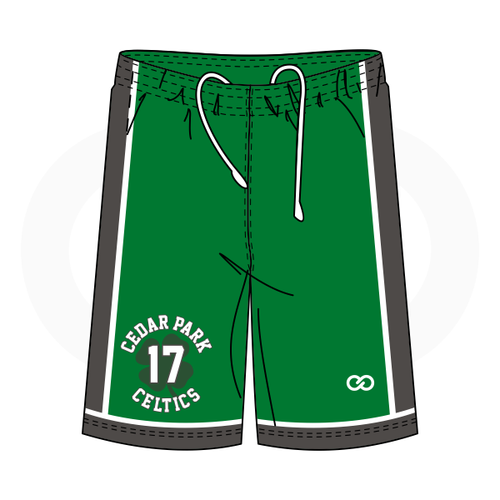 Cedar Celtics Basketball Green Shorts