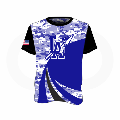LA Indians T-Shirt White/Royal