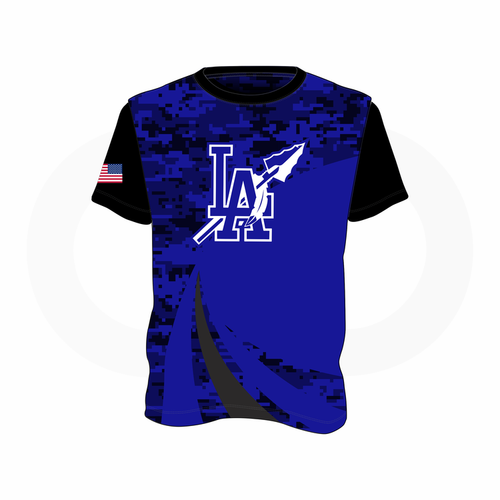 LA Indians T-Shirt Royal/Black