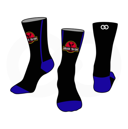 Club One Jurassic Tri Tops Socks
