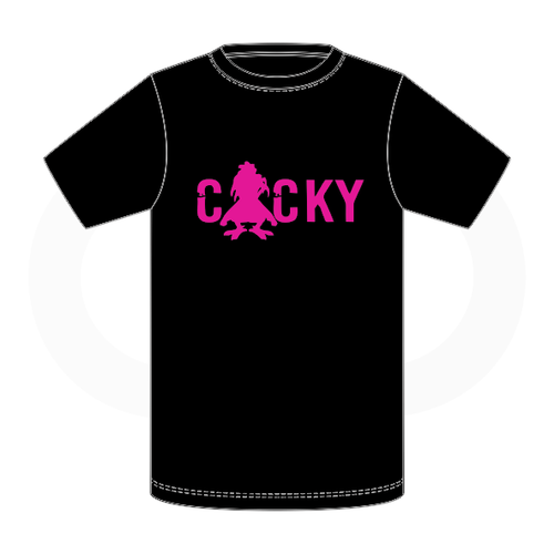 Cocky & Sadity T Shirt - Black with Pink