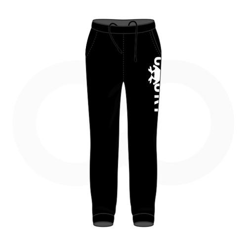 Cocky & Sadity Warmup Pants - Black with White