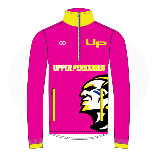 Upper Perk Indians Track Jacket - Breast Cancer Option 2