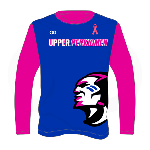 Upper Perk Indians Long Sleeve Shirt - Breast Cancer Option 2