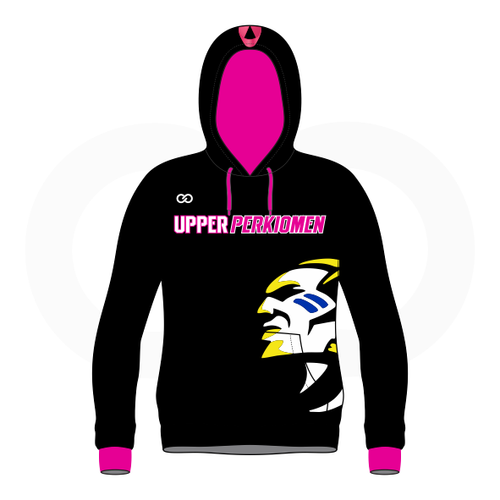 Upper Perk Indians Hoodie - Breast Cancer Option 1