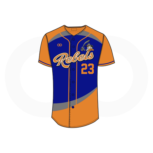 Tolsia Rebels Away Baseball Jersey