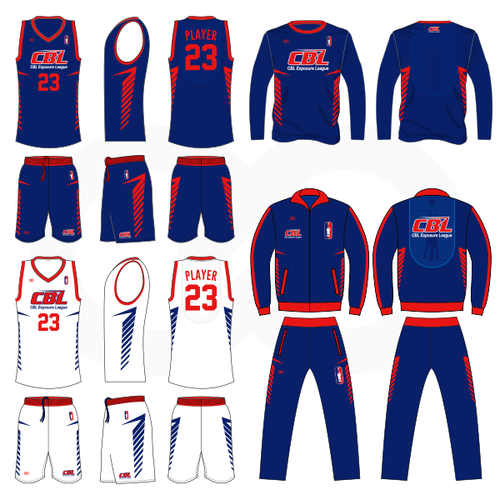 CBL Hoops Reversible Basketball Uniform w/ Shooting Shirt & Warmup Set