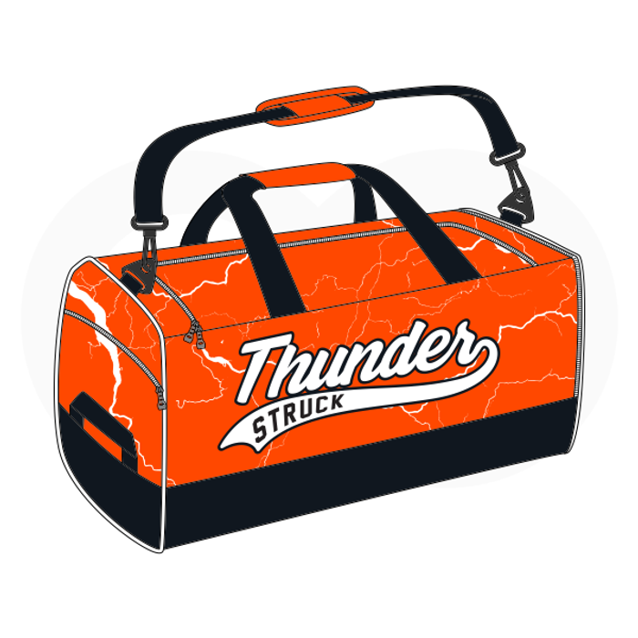 Thunder Struck Baseball Orange Duffle Bag