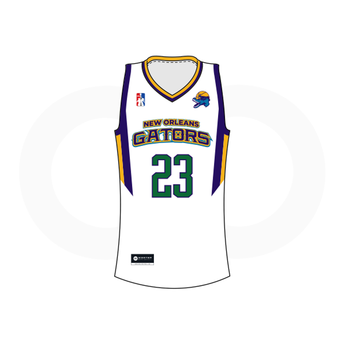 NOLA Gators White Basketball Jersey (Option 1)