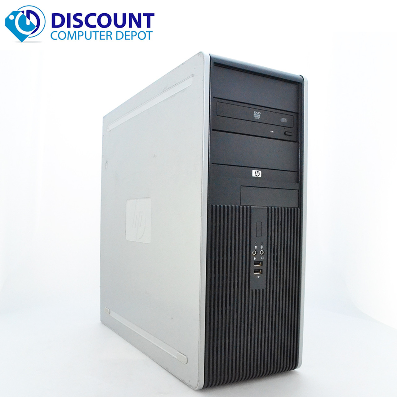 Hp Dc Desktop Computer Pc Tower Intel Dual Core 4gb 500gb