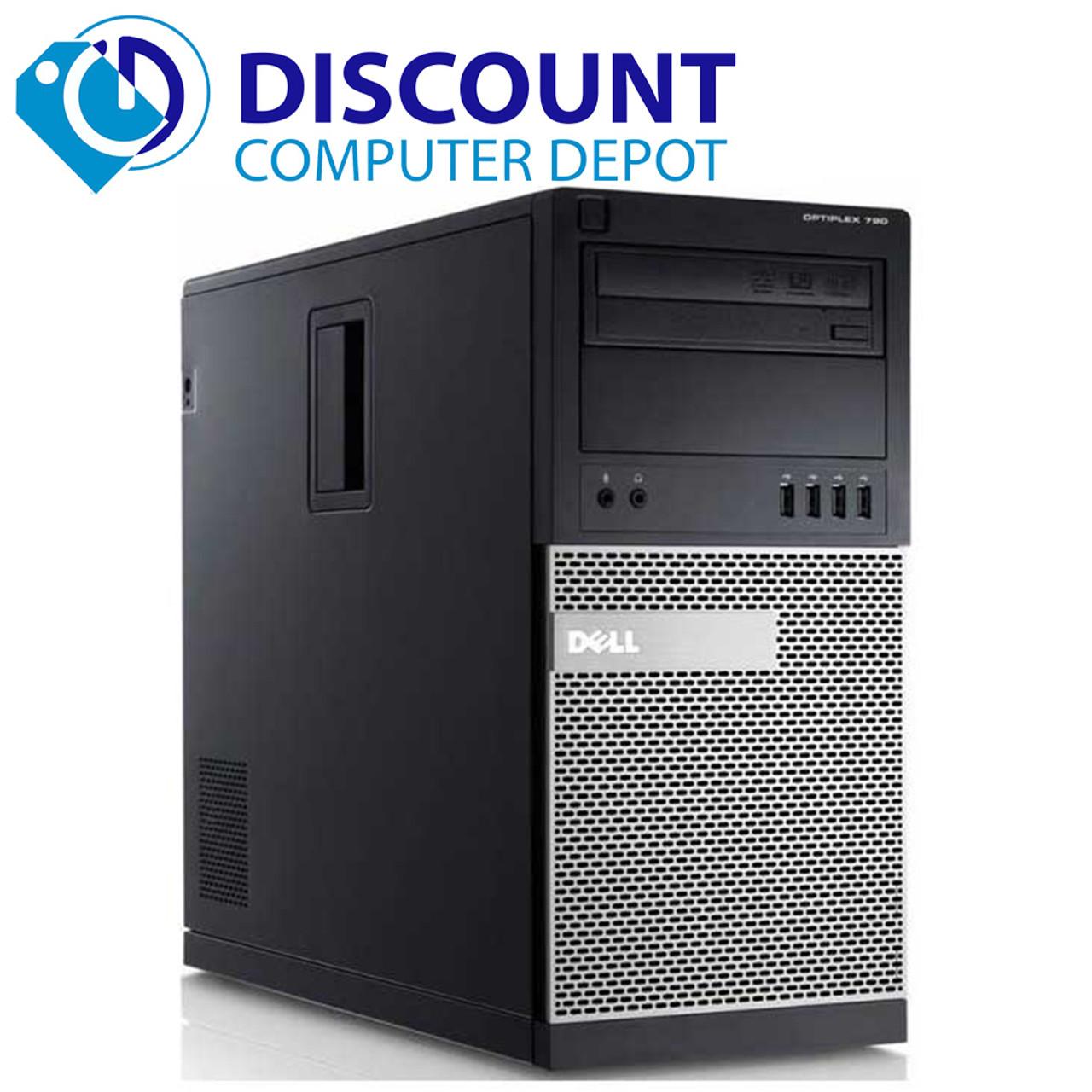 Dell Optiplex Windows 10 Desktop Computer Tower Quad Core