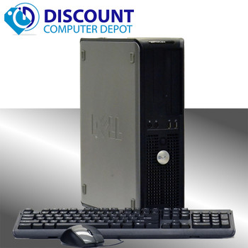 Fast Dell Optiplex Windows 10 Home Desktop Computer Dual Core 6GB 160GB DVD WIFI