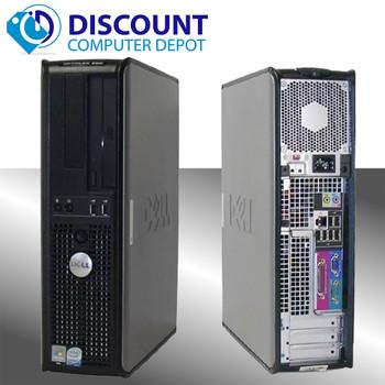Fast Dell Optiplex Windows 10 Pro Desktop Computer PC Dual Core 6GB 160GB WIFI