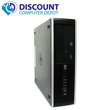 "HP 8000 Elite Windows 10 Desktop Computer 250GB Dual 19"" LCD Monitor"