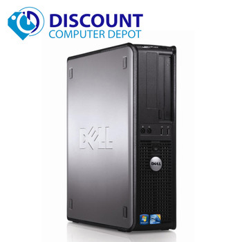 "Dell Optiplex Computer Windows 10 Pro Desktop Core 2 Duo 4GB WiFi 17"" LCD"