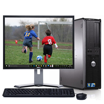 "Dell Optiplex Desktop Computer Windows 10 Core 2 Duo 4gb 1TB WiFi w/17"" LCD"