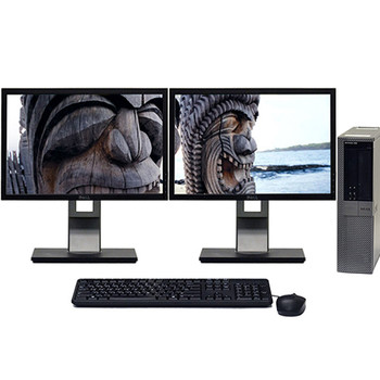 "Dell Optiplex 960 Windows 10 Pro Desktop 3.0 GHz Core2Duo 8GB 1TB Dual ""20 LCD"