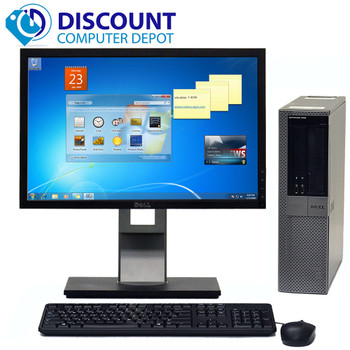 """Dell Optiplex 960 Windows 10 Pro Desktop 3.0GHz Core 2 Duo 8GB 500GB 22"""" LCD"""