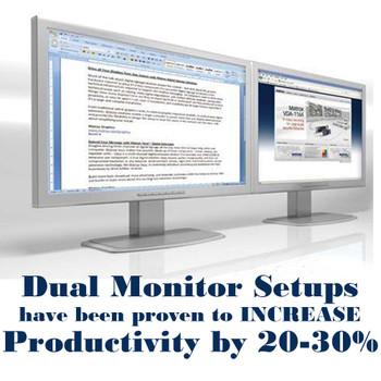 Dell Optiplex 960 Windows 10 Pro Desktop 3GHz C2D 8GB 1TB 2x Dual 19 LCD Monitor