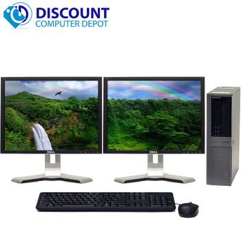 Dell Optiplex 960 Windows 10 Desktop 3.0 Core 2 Duo 4GB 160GB Dual 17 LCD Monitor