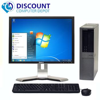 """Dell Optiplex 960 Windows 10 Pro Desktop 3.0GHz Core 2 Duo 4GB 160GB 17"""" LCD"""