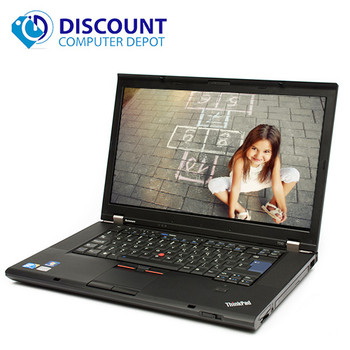 "Lenovo ThinkPad 15.6""T500 C2D Laptop Windows 10 4GB Ram 160GB Hard Drive DVD WiFi Power Adapter"
